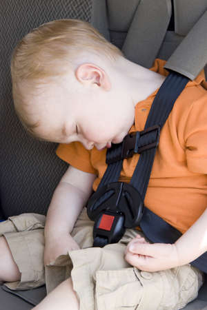Car seat nap photo