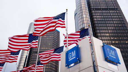 corporation: General Motors office in Detroit Editorial