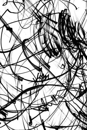 Zwart en wit krabbels Stockfoto