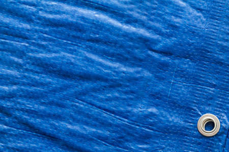 Blue tarp or waterproof tarpaulin