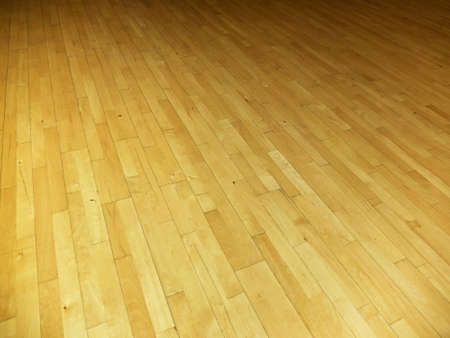 Background from gym floor with wood Imagens