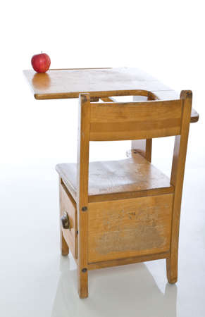 desk: Desk in classroom