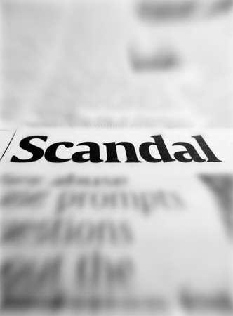 Scandale Banque d'images