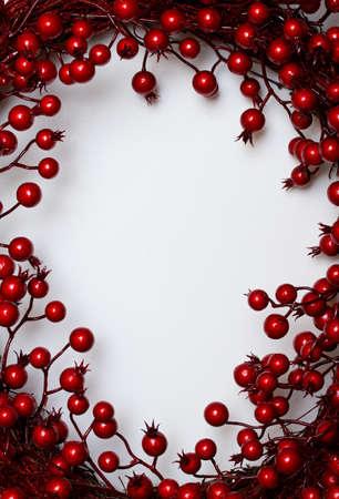 christmas berries: Natale telaio Archivio Fotografico