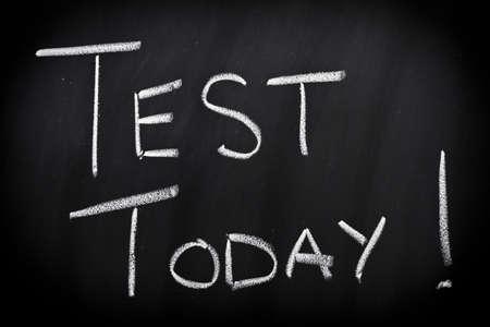 Test today Stock Photo