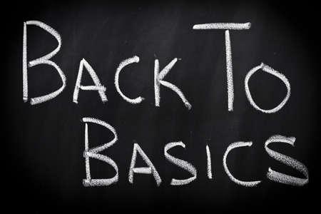 vereenvoudigen: Terug naar de basis Stockfoto