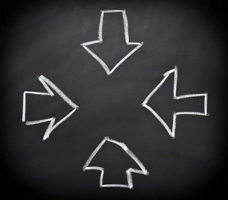 converging: Converging arrows Stock Photo
