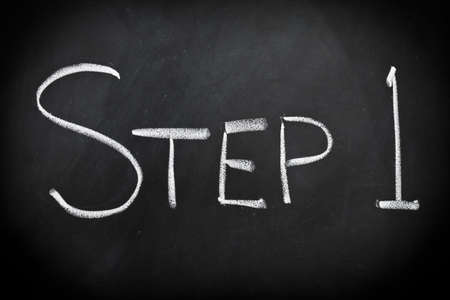 the first step: Step one