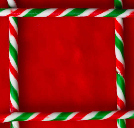 Candy cane border photo