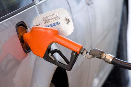 Fueling up vehicle Banco de Imagens