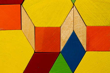 parallelogram: Wooden mosaic Stock Photo