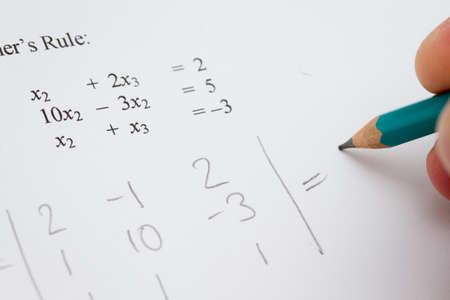 Matrix algebra Stock Photo - 11409085