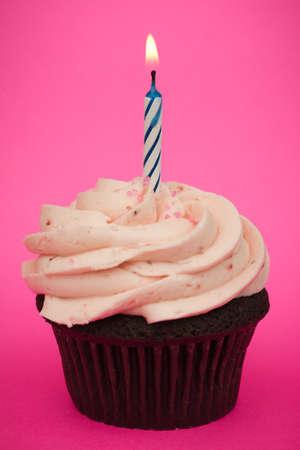 birthday cupcakes: Birthday cupcake Stock Photo