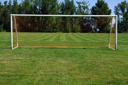 soccerfield: Voetbal doel Stockfoto