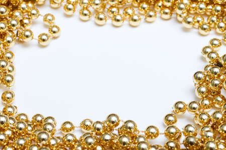 colorful beads: Gold frame