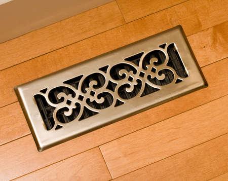 duct: Floor register Stock Photo