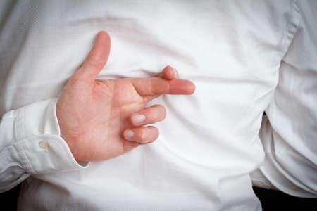 Fingers crossed Stock Photo