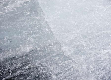 Crack in the ice Stock Photo