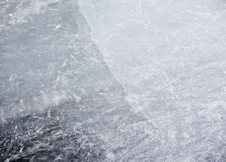thin ice: Crack in the ice Stock Photo