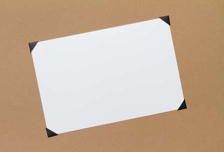 photo album page: Photo with corners Stock Photo