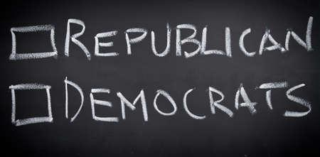 republican: Republicanos y dem�cratas Foto de archivo