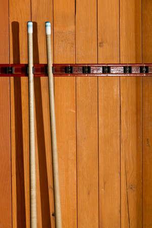 cues: Pool cues Stock Photo
