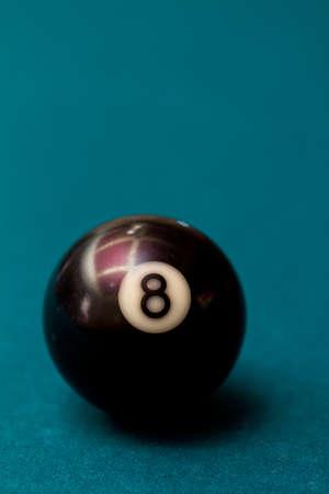 bola de billar: Bola ocho
