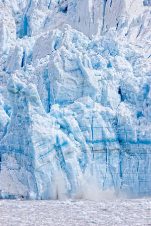 calving: Calving glacier in Alaska Stock Photo