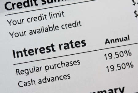 statements: Credit card interest rates