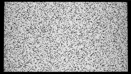 Widescreen television with static Stock Photo - 12462484