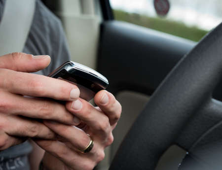 Distracted driving Stockfoto