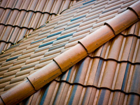 Ceramic roofing tiles Stock fotó