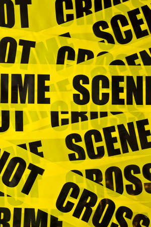 police tape: Crime scene - do not cross Stock Photo