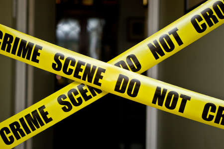 Indoor crime scene Stock Photo