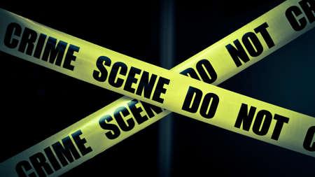 crime: Crime scene do not cross Stock Photo