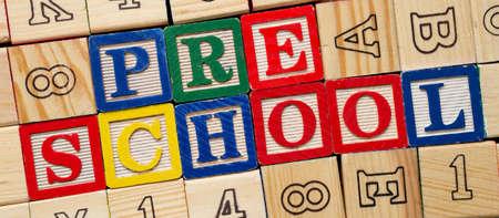 Preschool blocks Stok Fotoğraf