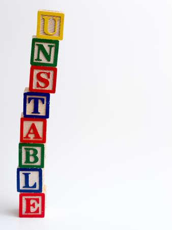 volatile: Unstable tower of blocks
