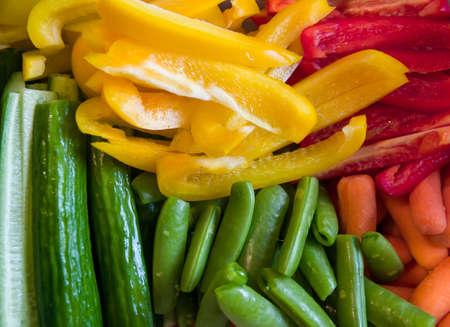 Cut vegetables;