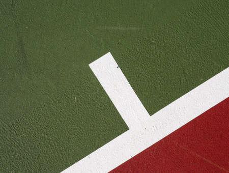Tennis court service mark