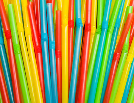 Colorful drinking straws Archivio Fotografico
