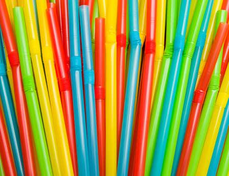 Colorful drinking straws Stockfoto