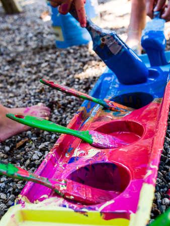 Kids painting Stockfoto