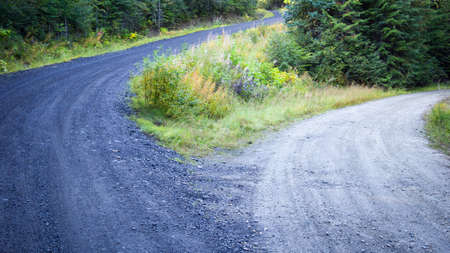 gravel roads: High road and low road