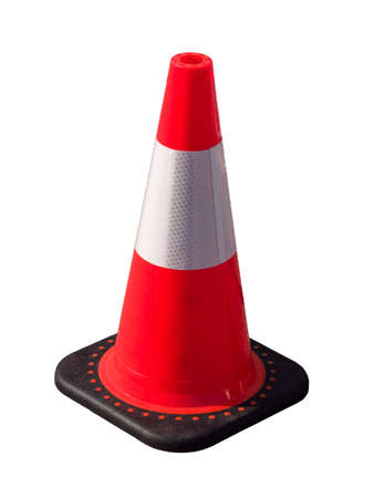 traffic cone: Isolated traffic cone Stock Photo