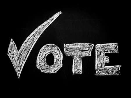 Vote with checkmark Stock Photo - 15759149