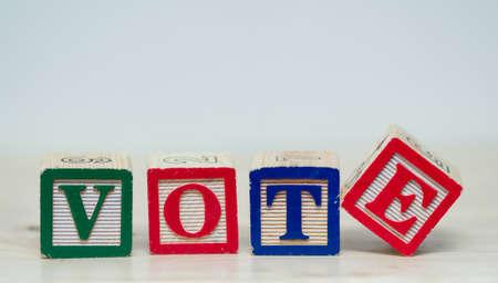 Vote word in blocks