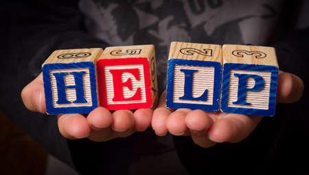 ontbering: Kind hulp nodig Stockfoto