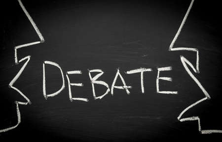 Koncepcja debata Zdjęcie Seryjne