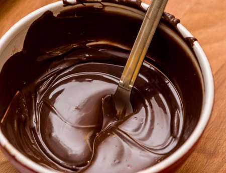 Chocolate melting in bowl
