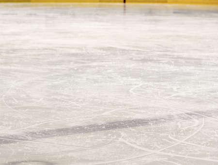 Hockey rink blue line Stockfoto